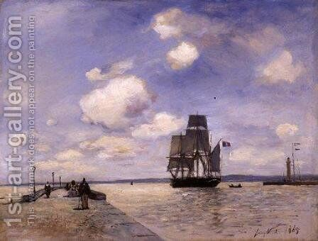 The Jetty of Honfleur by Johan Barthold Jongkind - Reproduction Oil Painting