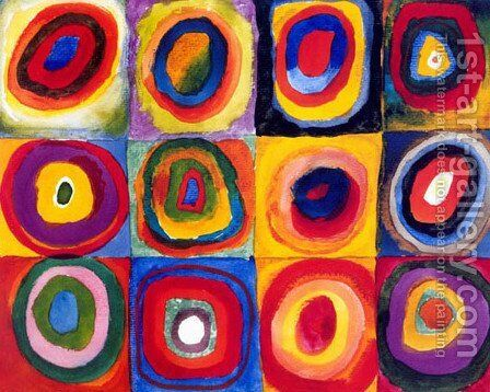 Squares with Concentric Rings by Wassily Kandinsky - Reproduction Oil Painting
