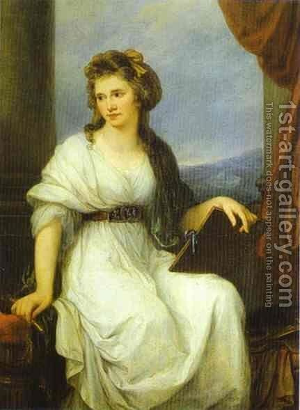 Self-Portrait by Angelica Kauffmann - Reproduction Oil Painting