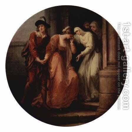 The Parting of Abelard and Heloise by Angelica Kauffmann - Reproduction Oil Painting