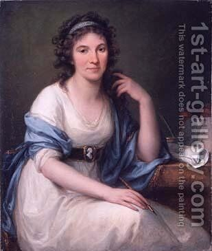 Ellis Cornelia Knight by Angelica Kauffmann - Reproduction Oil Painting