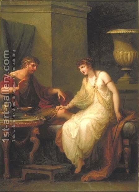 Ulysses and Circe by Angelica Kauffmann - Reproduction Oil Painting