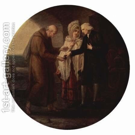 The Monk of Calais by Angelica Kauffmann - Reproduction Oil Painting