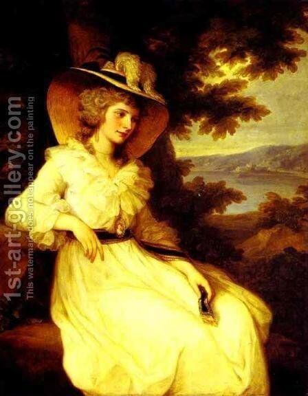 Lady Elizabeth Foster by Angelica Kauffmann - Reproduction Oil Painting