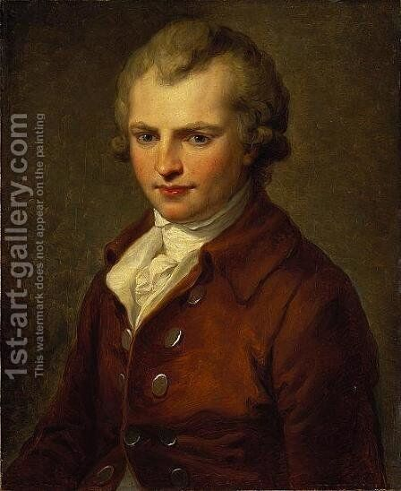 Sir James Hall of Dunglass by Angelica Kauffmann - Reproduction Oil Painting