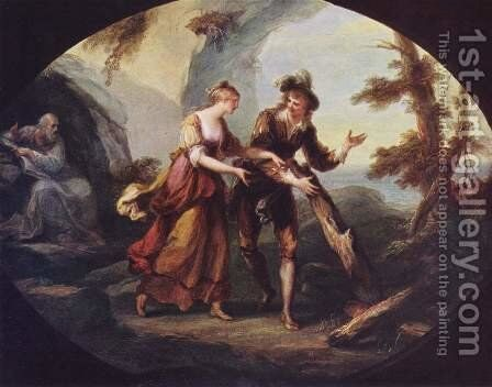 Miranda and Ferdinand by Angelica Kauffmann - Reproduction Oil Painting