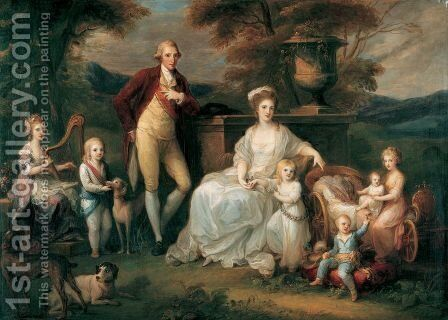 Ferdinand IV, King of Naples, and his Family by Angelica Kauffmann - Reproduction Oil Painting