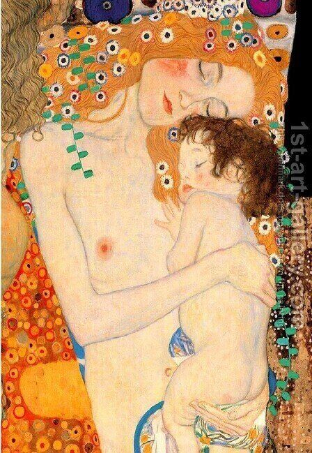 Mother and Child by Gustav Klimt - Reproduction Oil Painting