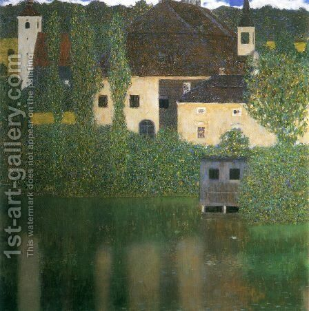 Water Castle by Gustav Klimt - Reproduction Oil Painting