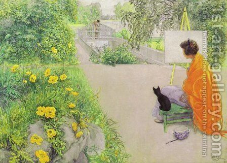 The Bridge by Carl Larsson - Reproduction Oil Painting