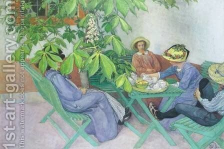 Under the Chestnut Tree by Carl Larsson - Reproduction Oil Painting