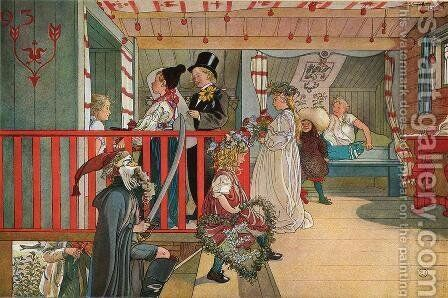 Nameday at the Storage House by Carl Larsson - Reproduction Oil Painting