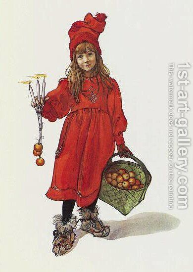 Brita as Iduna by Carl Larsson - Reproduction Oil Painting