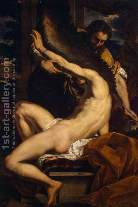Daedalus and Icarus by Charles Le Brun - Reproduction Oil Painting