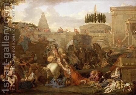 The Massacre of the Innocents by Charles Le Brun - Reproduction Oil Painting