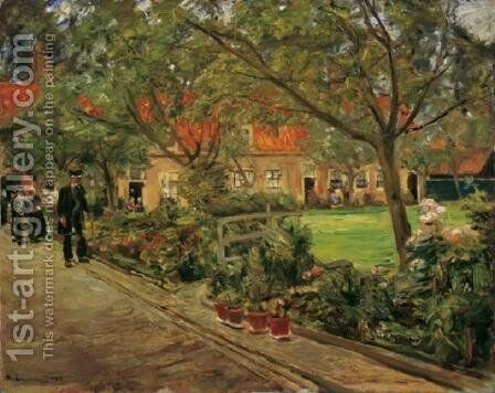 Spitalgarten im Edam by Max Liebermann - Reproduction Oil Painting