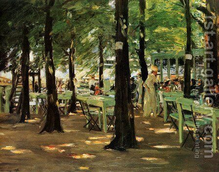 De Oude Vinck, Garden Restaurant by Max Liebermann - Reproduction Oil Painting