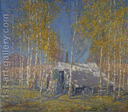 The Guide's Home, Algonquin by Arthur Lismer - Reproduction Oil Painting