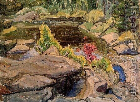 Little Lake I by Arthur Lismer - Reproduction Oil Painting
