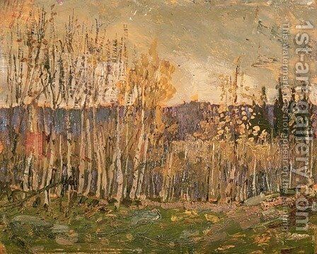 Poplars by Arthur Lismer - Reproduction Oil Painting