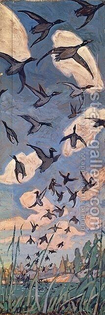 The Ducks by Arthur Lismer - Reproduction Oil Painting