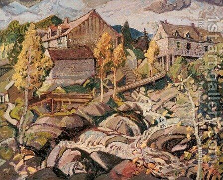 The Mill, Quebec by Arthur Lismer - Reproduction Oil Painting
