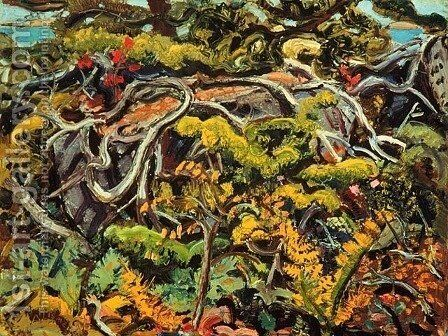 Undergrowth by Arthur Lismer - Reproduction Oil Painting