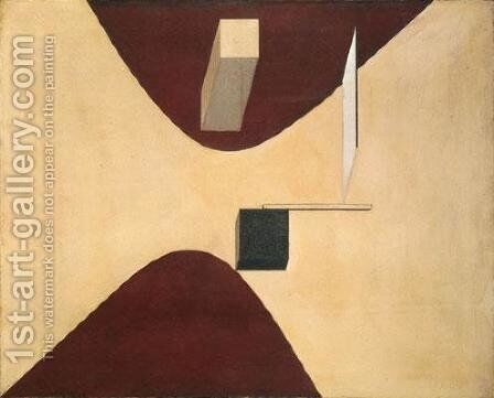 Proun P23 by Eliezer (El) Markowich Lissitzky - Reproduction Oil Painting