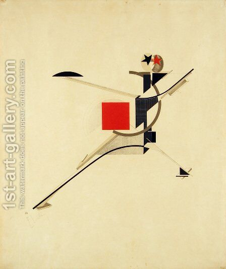 New Man by Eliezer (El) Markowich Lissitzky - Reproduction Oil Painting