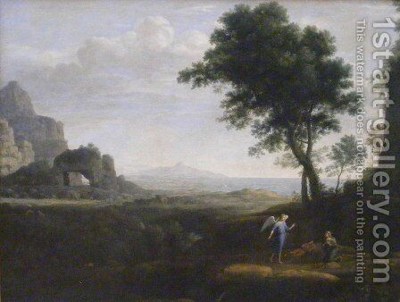 Hagar and Ishmael in the Desert by Claude Lorrain (Gellee) - Reproduction Oil Painting