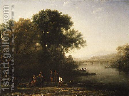 The Ford by Claude Lorrain (Gellee) - Reproduction Oil Painting
