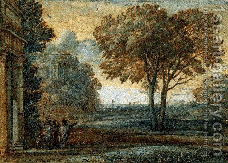 Seascape with Aeneas on Delos by Claude Lorrain (Gellee) - Reproduction Oil Painting