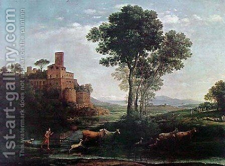 The Voyage of Jacob by Claude Lorrain (Gellee) - Reproduction Oil Painting
