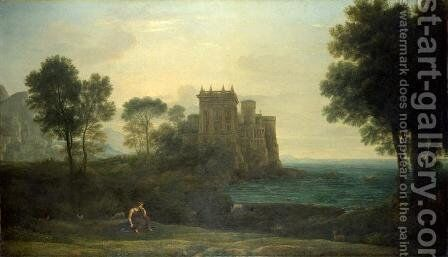 The Enchanted Castle by Claude Lorrain (Gellee) - Reproduction Oil Painting