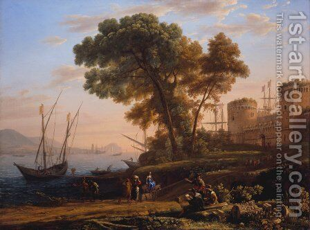 An Artist Studying Nature by Claude Lorrain (Gellee) - Reproduction Oil Painting