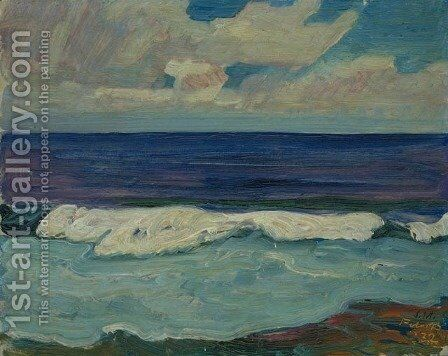 Surf, Barbados I by James Edward Hervey MacDonald - Reproduction Oil Painting