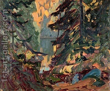 Near Montreal Lake, Algoma by James Edward Hervey MacDonald - Reproduction Oil Painting