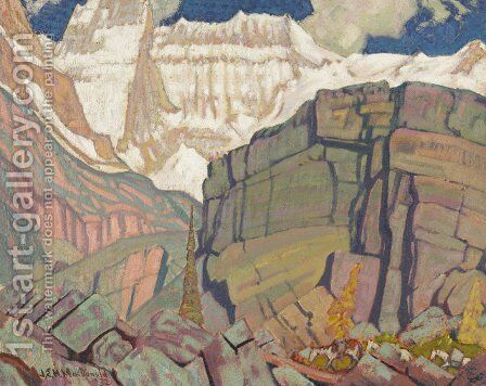 Mount Lefroy by James Edward Hervey MacDonald - Reproduction Oil Painting