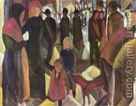 Farewell by August Macke - Reproduction Oil Painting