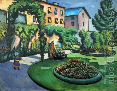 Gartenbild by August Macke - Reproduction Oil Painting