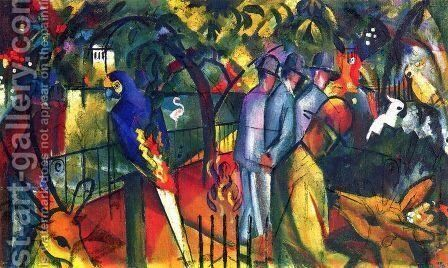 Zoologischer Garten I by August Macke - Reproduction Oil Painting