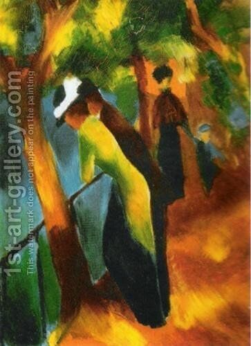 Sunny Road by August Macke - Reproduction Oil Painting
