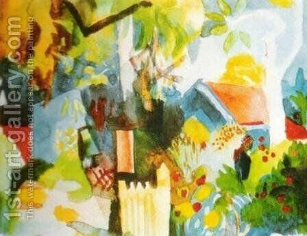 Landscape by August Macke - Reproduction Oil Painting