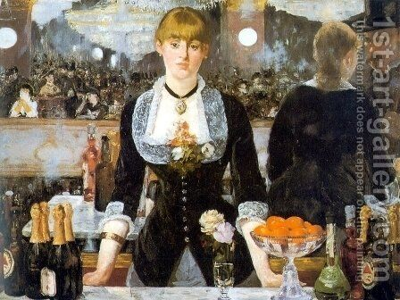 A Bar at the Folies-Bergere by Edouard Manet - Reproduction Oil Painting