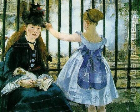 Gare Saint-Lazare by Edouard Manet - Reproduction Oil Painting