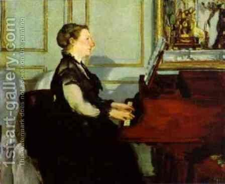 Madame Manet at the Piano by Edouard Manet - Reproduction Oil Painting