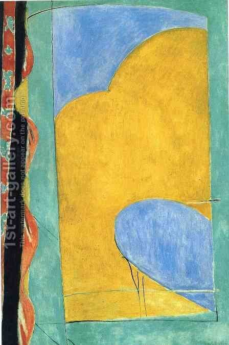Yellow Curtain by Henri Matisse - Reproduction Oil Painting