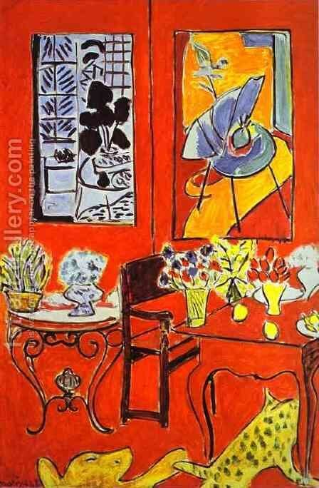 Large Red Interior by Henri Matisse - Reproduction Oil Painting