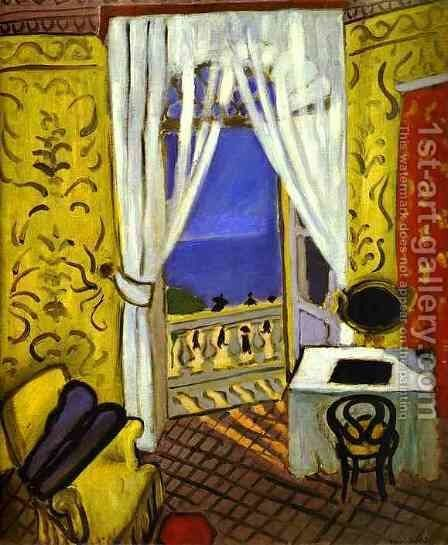 Interior With a Violin Case by Henri Matisse - Reproduction Oil Painting