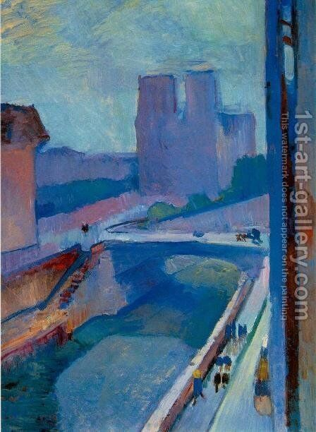 A Glimpse of Notre Dame in the Late Afternoon by Henri Matisse - Reproduction Oil Painting